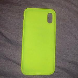 Accessories - NEON GREEN IPHONE X CASE